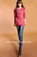 Christmas Gift Cotton Comfortable Zip Up Hoodies Sweatshirt For Women bh3118