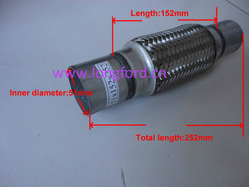 LFT stainless steel bellow compensator 51*151*252mm