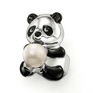 Кольцо Панда из стерлингового серебра 180грн