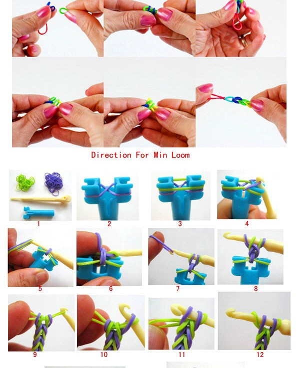 1pc 2014  Hot Toy Looming Kits Rubber Loom Bands Refills Diy Bracelet Gift for Детский Toy