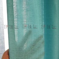 Занавеска YJ433 100%Polyester charming stripe blue faux linen window curtain patterns