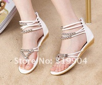 free shipping new 2012 women shoes occident sandal Roman Flat shoes walking shoe