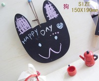 Free shipping+5pcs/lot Lovely wooden Mini Cat blackboard & message board,Hanging available