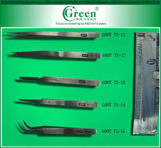 GOOT TS-13 Round Stainless Precision Tweezers