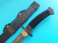 Unique Weapon Collection Chinese Sword Sheath Dragon Carving