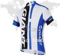 Гигантские синей команды, Велоспорт Одежда лето велосипедов одежду, короткий рукав Велоспорт-Джерси и нагрудник комплект шорты