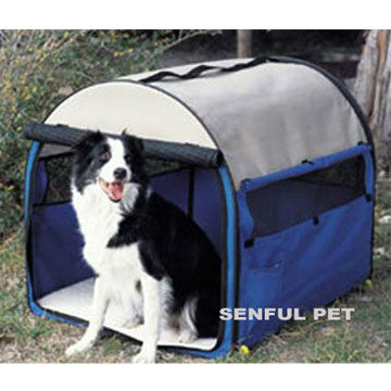 Foldable Dog Fence Cage Travel Crate