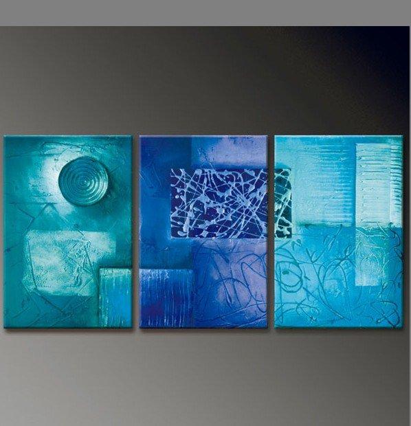Pinturas abstractas 3d imagui for Color agua marina pintura
