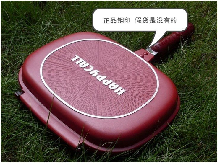 free shipping wholesale Happycall Happy call Fry pan Non-stick pan Double Side Grill Fry Pan Well  27cm