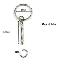 Free Shipping!Round key ring with copper snake chain,100pcs/lot,Wholesale Metal Keychains,Key Chain and Key Ring Accessory