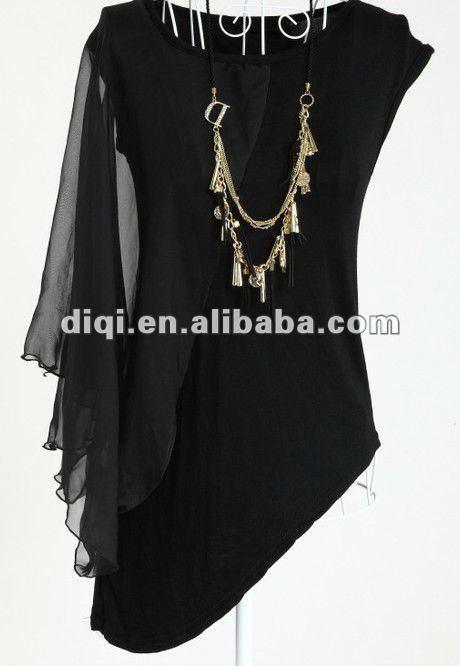 de la moda de las señoras camisa t/blusa/sueltas wowem t - shirt/de