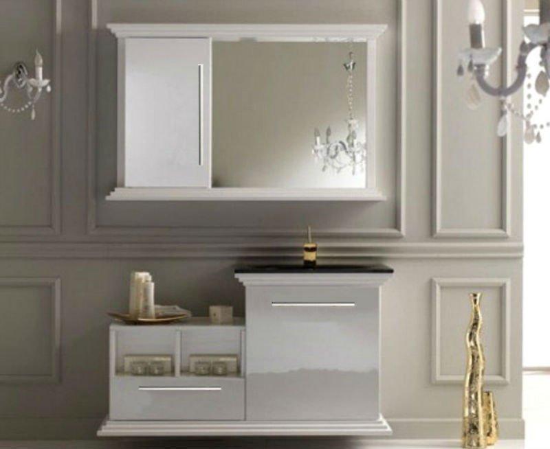 Nouveau design blanc bois de luxe salle de bains commode for Commode de salle de bain blanc