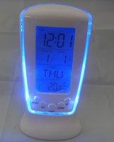 цифровой термометр часы lcd календарь привело подсветка Обои метеостанции часы включают бесплатные Аккумуляторы