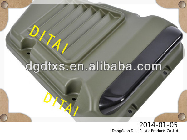 Custom vacuum forming plastic battery automotive cover