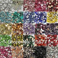 Стразы для одежды CRAB5 CPAM! s 10000pcs/pack 5mm HQ 14 Facets Resin Non Hotfix Flatback Rhinestones Crystal AB