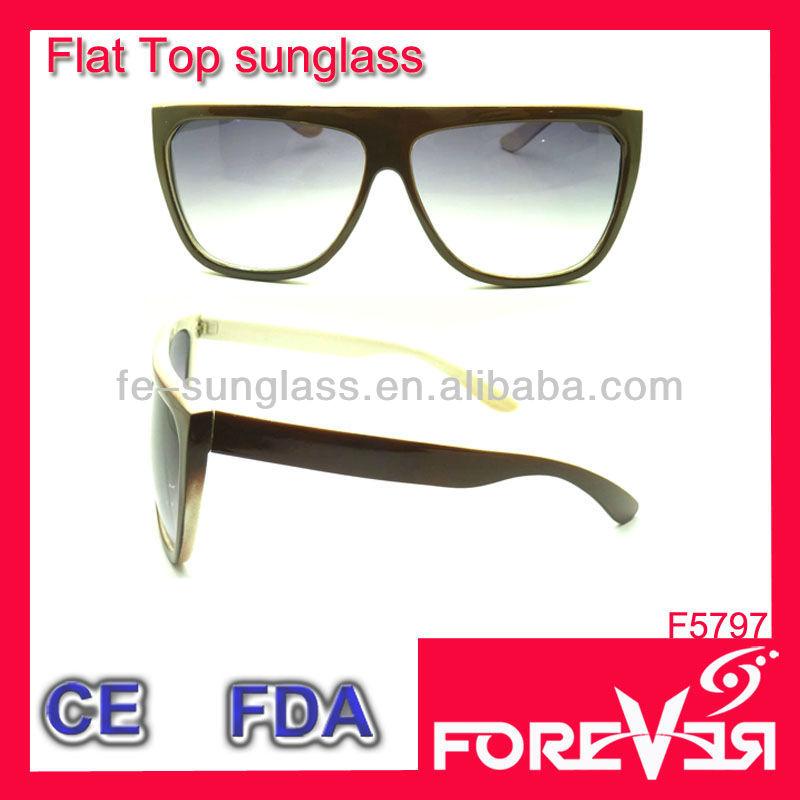 Super Flat Top Sunglasses Cheap Super Men Black Flat Top