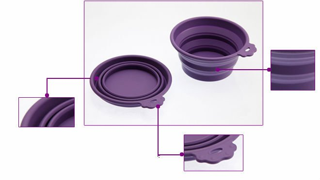 2012 new non-toxi foldable silicone pet bowl
