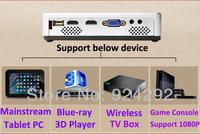 Пико портативный активные 3d dlp android 4.2 wifi проектор, полный hd smart Светодиодные 3d dlp proyector