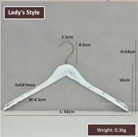 Вешалки и стойки для белья Lady's Style! Big White ancient Wooden Hanger for Coats and Clothes