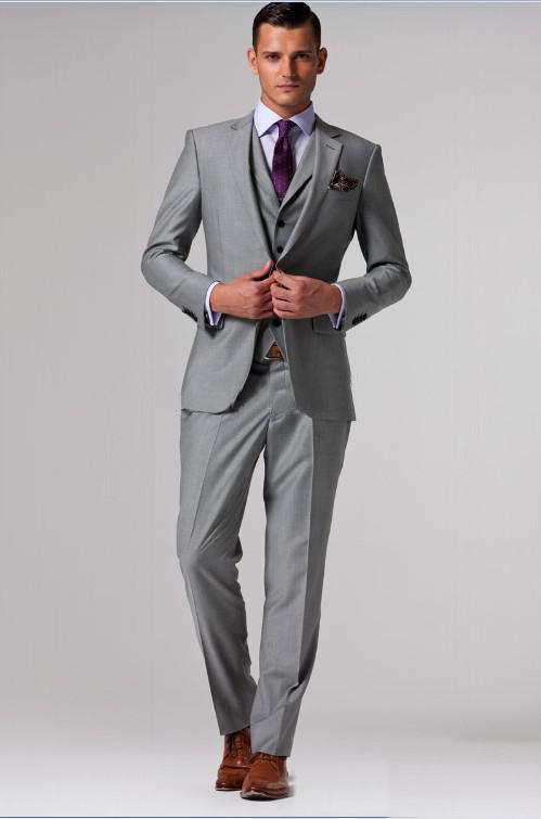 Grey Coat Suit Dress Yy