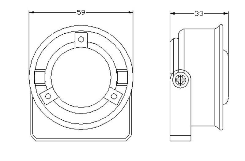 piezo siren gp-04 12v 1 tone buzzer alarm