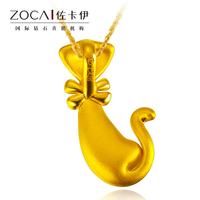 zocai бренды Мистер том кошка натуральный 24k твердых чистый желтый 3d жесткий золотой кулон подвески ювелирные изделия ювелирные изделия статьи 4 ожерелье