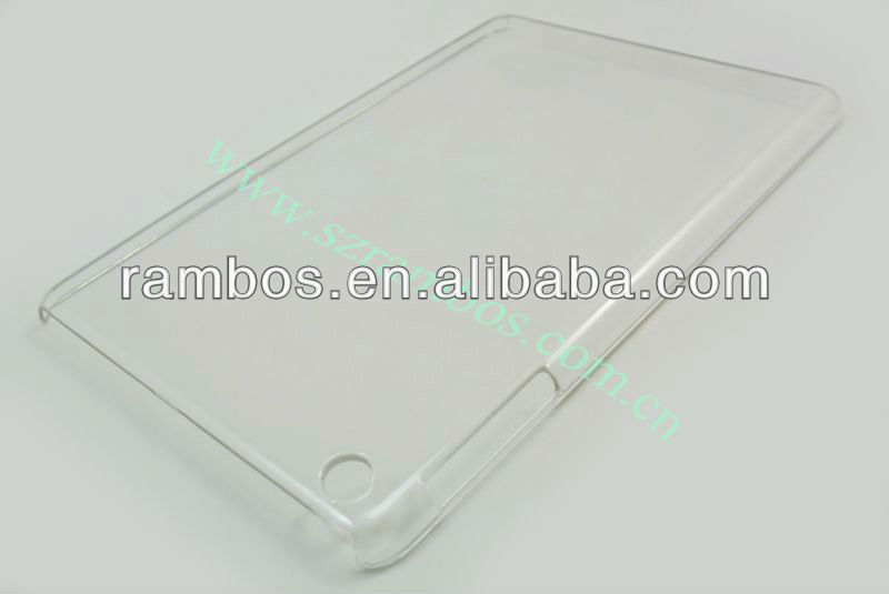 PC clear back cover case for iPad 4 for iPad mini