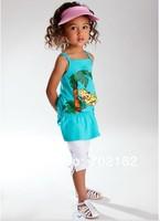 высокого качества 100% хлопок летние девочки, одежда устанавливает новые прибыли случайные спорта детей baby одежда костюм