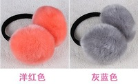 Ultralarge earmuffs high quality fox fur earmuffs fur ear package thermal plush earmuffs ear