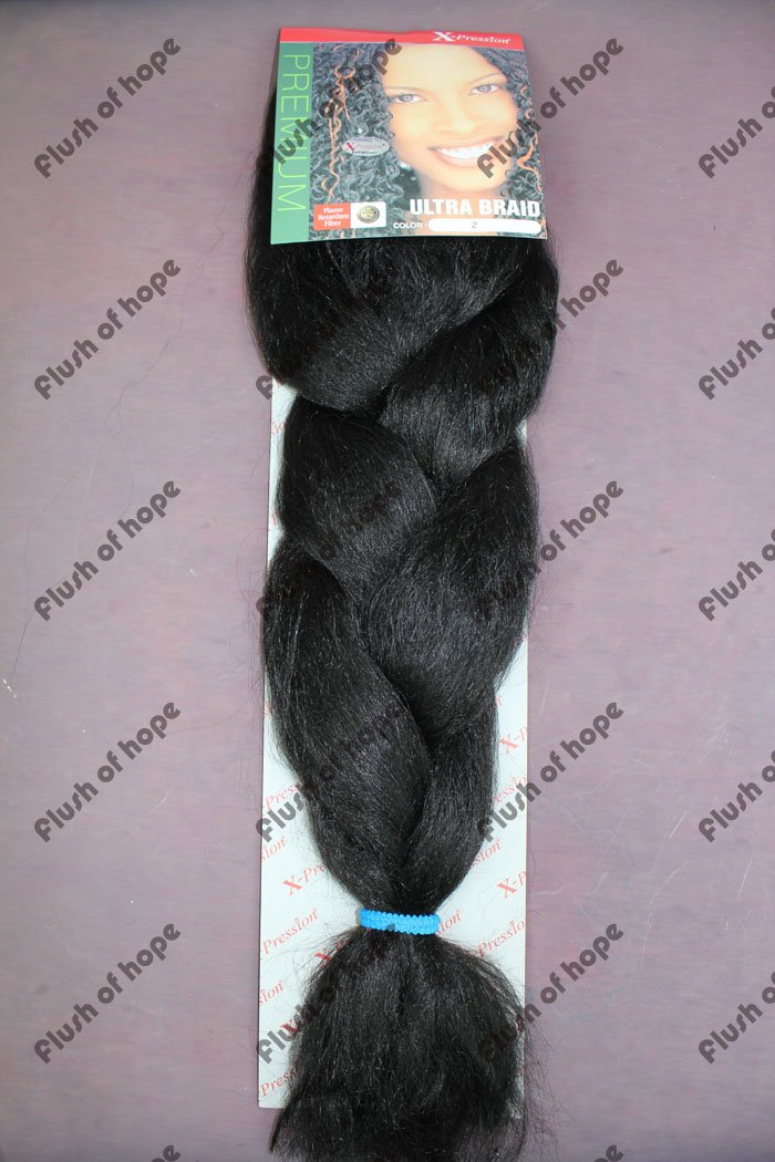 Free Shipping X-pression ULTRA BRAID High Temperature Fiber Synthetic Hair Extension Braid Fringe Hair Braid 52inch 120gram