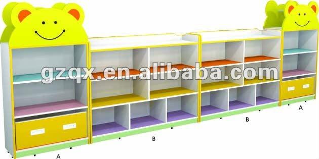 Wooden Bus Children Toy Cabinet QX-B7502