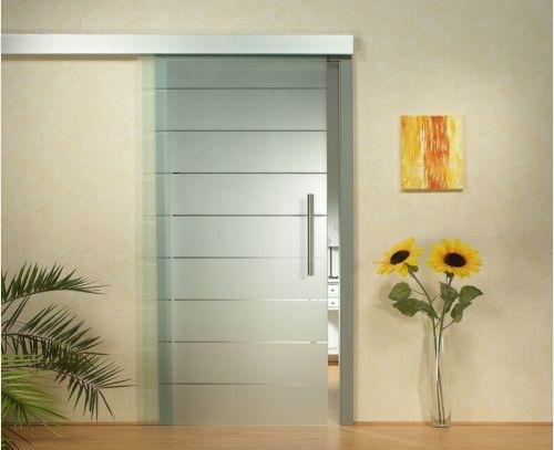 Vidrio grabado al cido puerta gs003 puerta - Puertas correderas de vidrio templado ...