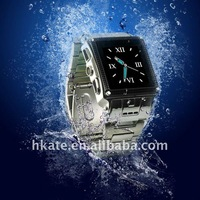 Мобильный телефон 2012 New Watch Mobile Phone stainless Steel metal Waterproof Watch Phone W818
