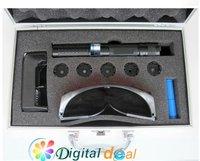 лазерная указка High Power 1000MW Blue laser pointer+5 * laser heads of flashlight+ glasses+Battery+Gift box DHL