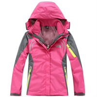 Женская одежда 2013 New Winter Hooded Leisure Sport Wear Reflective ski snow outdoor Women Men Couples Coat for windproof climbing wear lovers