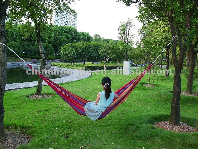 lightweight breathable 100% cotton jungle single hammock