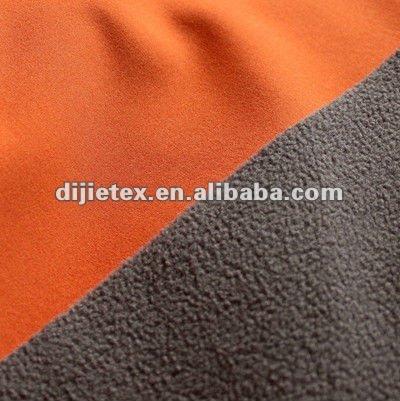 Spandex polyester pongee fabric+TPU FILM+polar fleece