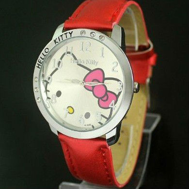 Free Shipping High Quality Hello kitty Fashion Cute Lovely Girl woman lady Wrist Watches 10pcs/lot [DH002*10]