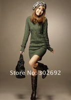 Женский кардиган 2011 cheap autumn winter v collar bodkin long sleeve long style women sweater, fashion sweater
