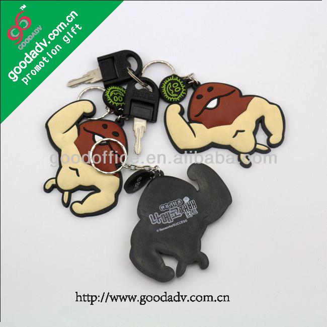 Cheap wholesale custom production mini soft pvc plastic motorcycle keychain ring