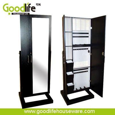Chino de madera de cuerpo entero espejo mueble de madera for Espejo pared cuerpo entero