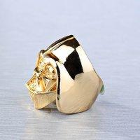 Кольцо Amazing 18K Gold Plated Star Wars Darth Vader Face Head Mask Helmet Ring Size 7 8 Skull Ring Star Wars Jewelry