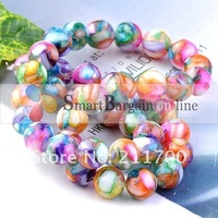 10mm Motley Mother Of Pearl Shell Round Loose Beads 1 Strand 15.5 inches 38-40Pcs