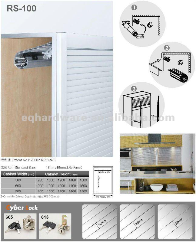 쉬운 오픈 광주 부엌 캐비닛 알루미늄 압연 셔터-셔터 -상품 ID ...