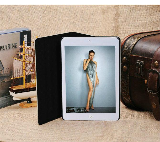 creative design book type leather case for ipad mini