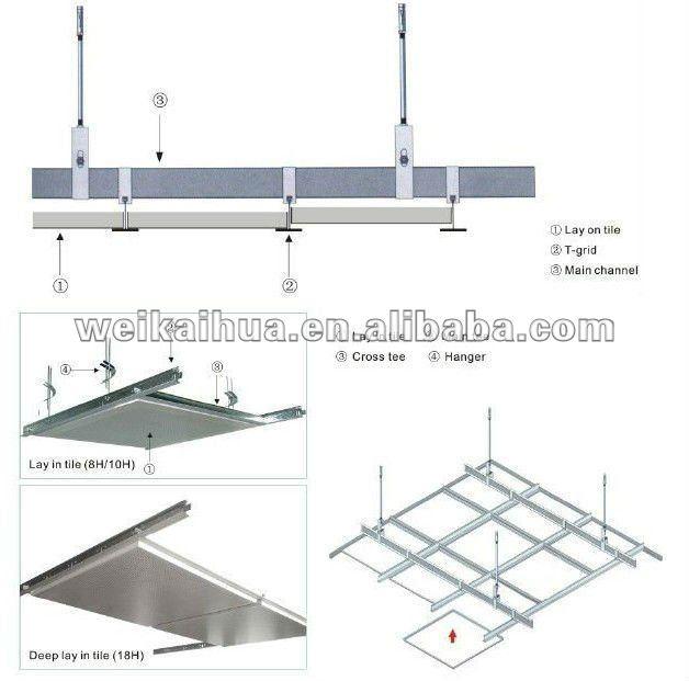 Gypsum Board Ceiling Grid Frame T Bar Concealed Grid Buy