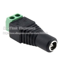 Аксессуары для видеонаблюдения 2.1mm CCTV camera DC Power Female Jack Connector Plug for CCTV Camera 500pcs