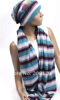 2012 NEWEST Fashion hat and scarf, hat and scarf 2 pcs set, Many design and colors mix order, Factory price, A135