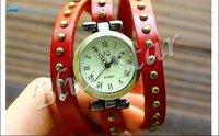 Наручные часы Genuine Cow leather fashion Punk Wrap Women watch.TOP quality