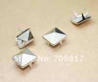 10mm Pyramid Studs Mix 4 Colors Punk Rock Rivets Nailheads Spike For Clothing Bags Shoes/Free Shipping 1000pcs GZ005-10Mix CP